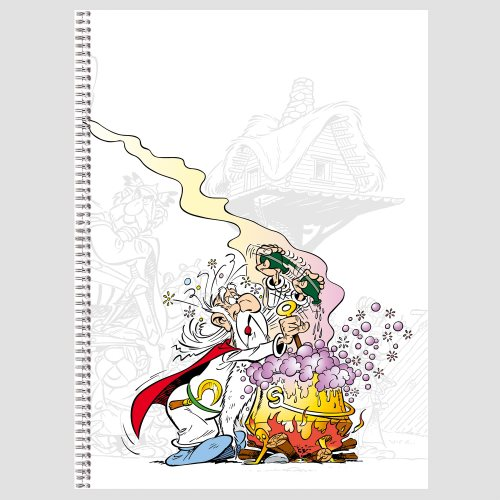 Asterix 'Magic Potion' Spiral-bound A5 Notebook - line ruled 90g/m² paper, 100 pages - (varying covers designs)
