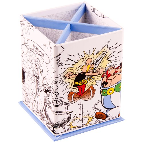 Asterix 'Magic Potion' Partitioned Pencil Pot - 8x8x11,5cm, with potion gaude interior - card construction