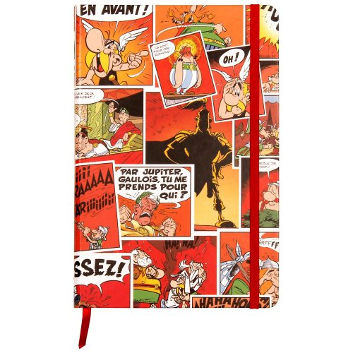 Asterix 'Comics' Elasticated Hard-bound Journal, with rear pocket - line ruled 90g/m² paper, 144 pages - (varying covers designs)