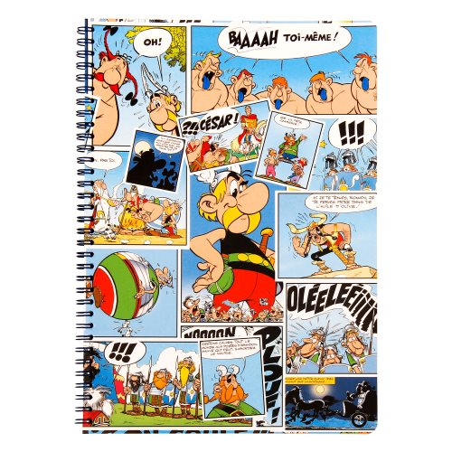 Asterix 'Comics' Spiral-bound A5 Notebook with 3 dividing pockets - line ruled 90g/m² paper, 120 pages - (varying covers designs)