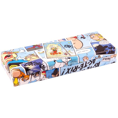 Asterix 'Comics' Pencil Box - 21x5,5x8cm- card construction (bleu)