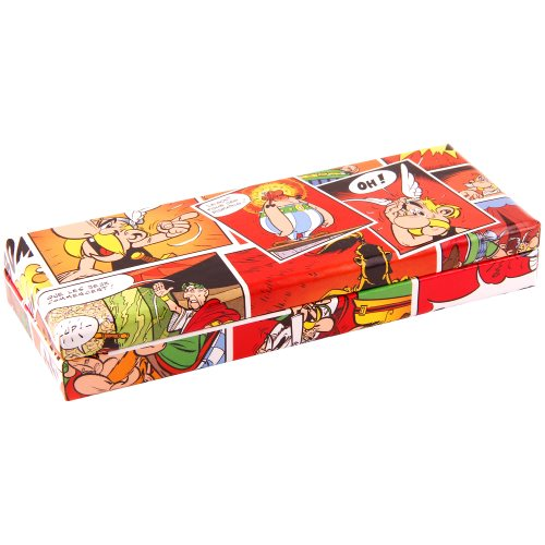 Asterix 'Comics' Pencil Box - 21x5,5x8cm- card construction (rouge)
