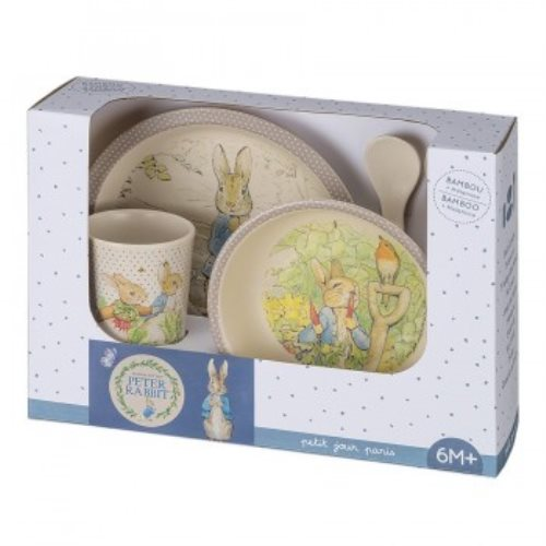 5-piece gift box Peter Rabbit bamboo