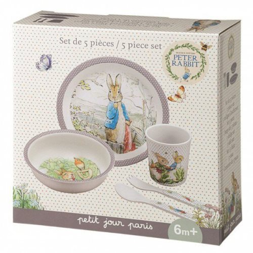 5-piece gift box taupe Peter Rabbit