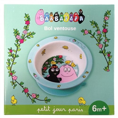 Bowl with suction pad barbapapa
