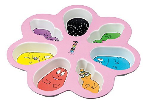 Assiette compartiments barbapapa