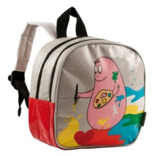 Small backpack barbapapa painting