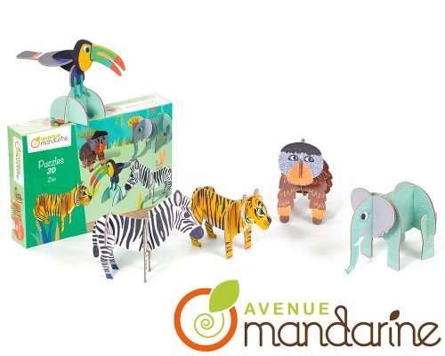 Puzzle 3D - Animaux de la jungle