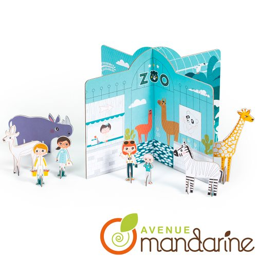 Colorie et Joue ! Zoo 3D / Colour and Play! - 3D Zoo