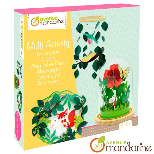 Coffret créatif Tout en papier - Nature / Multi-Activity - All paper (Woodland flowers & creatures)