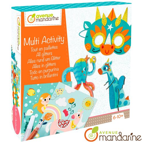 Coffret créatif Tout en paillettes / Multi-Activity - All glitters  - fantasy creatures