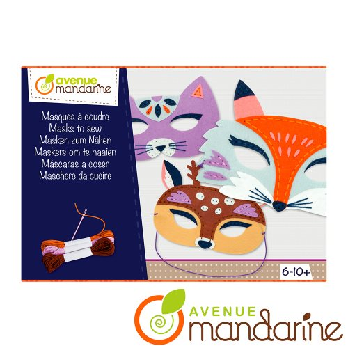 Boite créative - Masques à coudre - Renard, Cerf, Chat / Creative box - Masks to sew - Fox, Dear, Cat