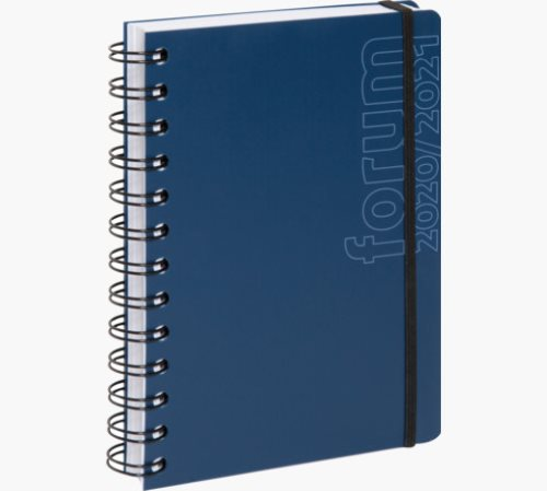 Agenda Exacompta Forum 12x17cm 'Sporty', Polypro Cover - wirebound - 1 page par jour - Assorted Colours