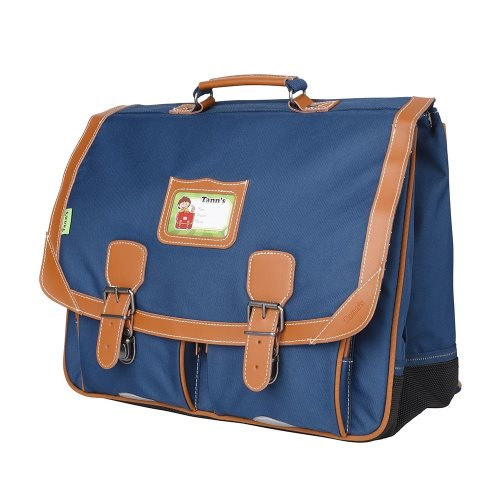 Cartable Tann's 'Incontournables' grande 41cm - (denim bleu)
