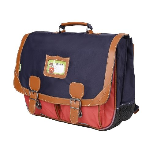 Cartable Tann's 'Iconic' grande 41cm - (bleu/ rouge)