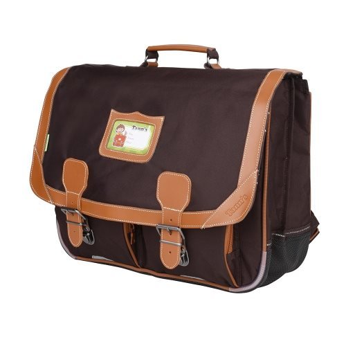 Cartable Tann's 'Incontournables' grande 41cm - (chocolate)