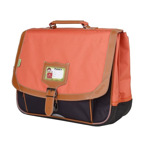 Cartable Tann's 'Iconic' moyenne 38cm -  (orange/ gris)