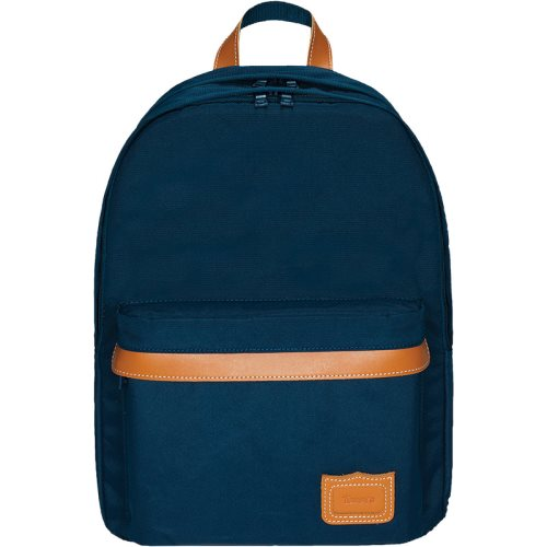 Sac / Day Pack by Tann's - Large w. 2 compartments - LES SIGNATURES: 'Camille' (marine blue, tan)