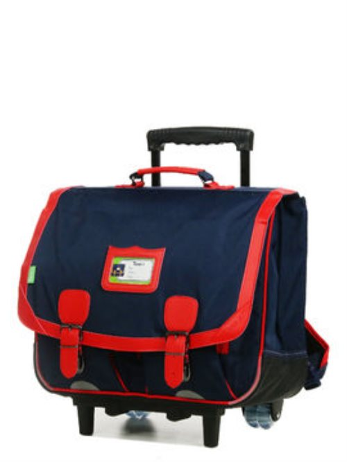 Cartable trolley - tann's 41cm essential - navy / salsa