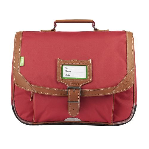 Cartable / Satchel by Tann's - 35cm Small - 'Madrid' (rouge & tan)