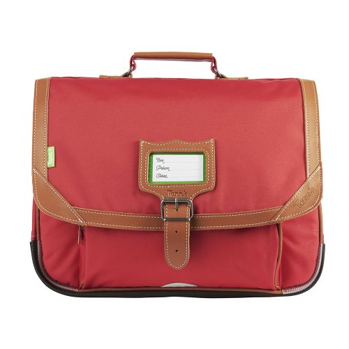 Cartable / Satchel by Tann's - 38cm Medium - 'Madrid' (rouge & tan)