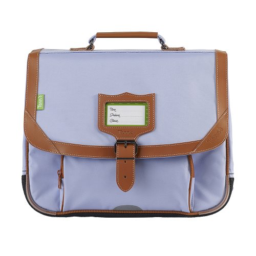 Cartable / Satchel by Tann's - 35cm Small - 'Manoque' (mauve & tan)