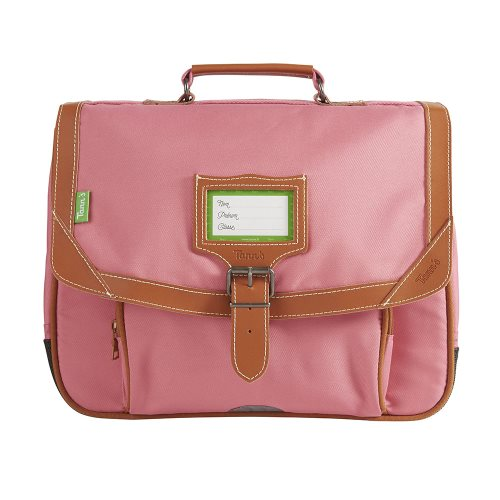 Cartable / Satchel by Tann's - 35cm Small - 'Portofino' (rose & tan)