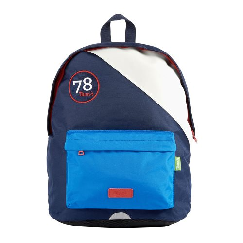 Sac / Day Pack by Tann's -  Medium w. single compartment - 'Ocean Blue' (blues, white, red)