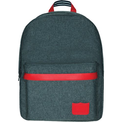 Sac / Day Pack by Tann's - Large w. 2 compartments - LES CHINES: 'Max' (grey, red, blue)