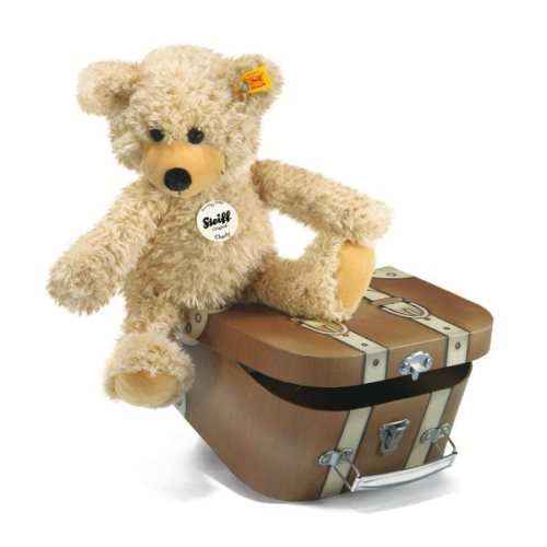 'charly' teddy in suitcase 30cm - steiff teddy bear gang