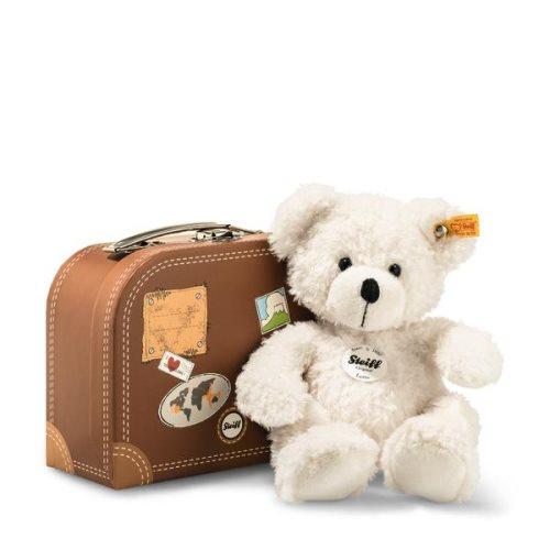 'lotte' teddy in suitcase 28cm - steiff teddy bear gang