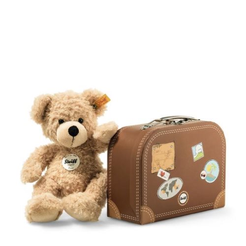 'flynn' teddy in suitcase 28cm - steiff teddy bear gang
