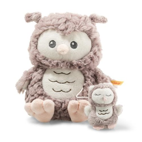 'ollie' music box owl 18cm - steiff soft cuddy friends