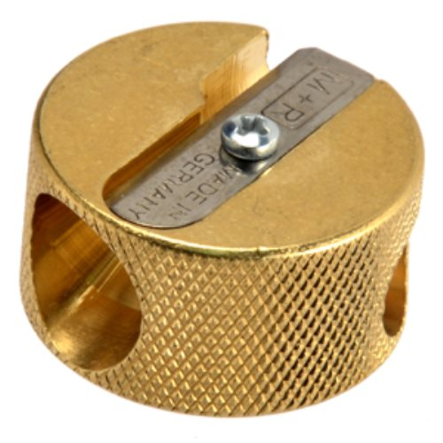 Taille-crayon double - 'Cylinder' fabriqué en laiton massif (machined brass)