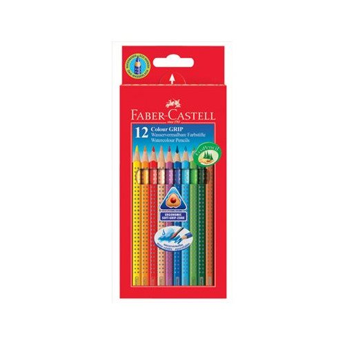 12 crayons de couleur Colour Grip aquarelle Faber Castell