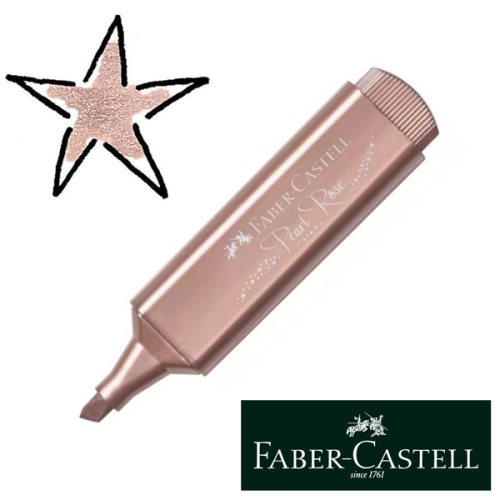 Surligneur / Highlighter Faber-Castell Textliner Metallic - 'Pearl Rose' (or-rose)