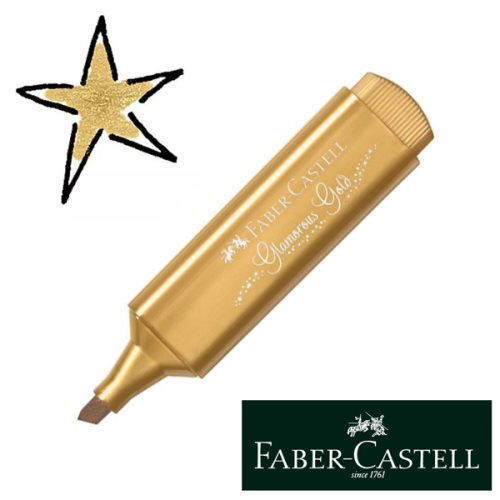 Surligneur / Highlighter Faber-Castell Textliner Metallic - 'Glamorous Gold' (Or)