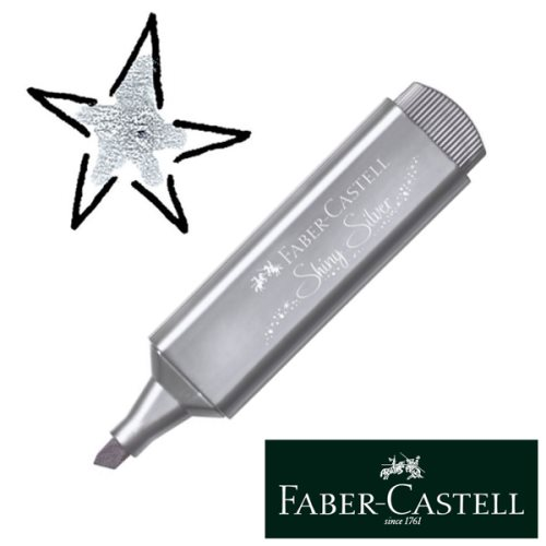 Surligneur / Highlighter Faber-Castell Textliner Metallic - 'Shiny Silver' (Argent)
