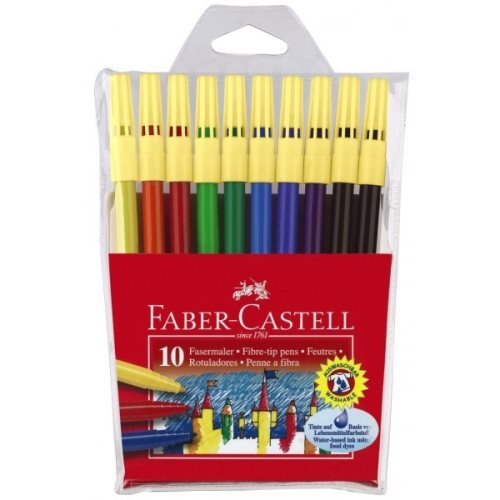 10 Feutres Faber Castell '45F' - pointe moyenne (1.0mm)