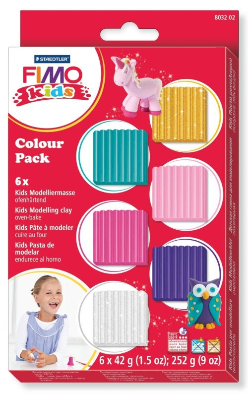 Fimo kids color pack - pastels + metallics