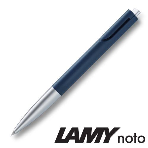 Lamy 'Noto' Ballpoint Pen (283) - Night Blue / Silver - black ink (M16 Refill)