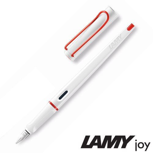Lamy 'Joy' Calligraphy Fountain Pen ; Limited Edition 'White & Red' with 1.5mm chisel nib