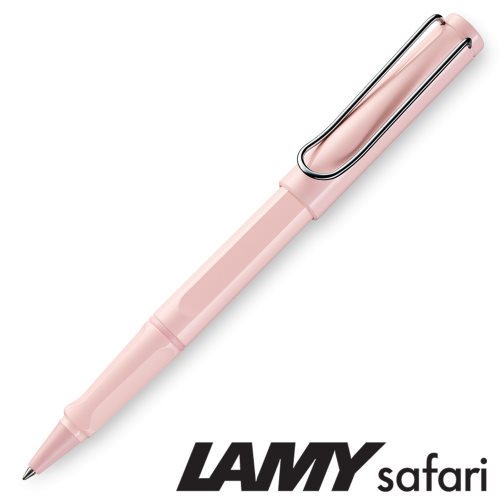 Lamy 'Safari' Rollerball Pen - 'Pastel' Rose (336) Special Edition 2019 - black ink (M63 Refill)