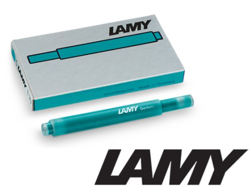 Lamy T10 Fountain Pen Cartridges (cartouches) - 'Turmaline' Blue (2020 Special Edition)