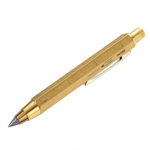 Grand Criterium de graphite Troika 'Zimmermann 5,6' Carpenters Pencil (5.6mm) - fabriqué en laiton massif (solid brass)