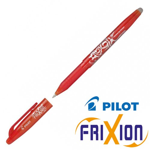 Stylo Frixion ball (avec capuchon) - pointe large 0.7mm (rouge)