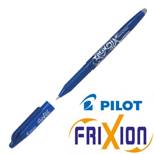 Stylo Frixion ball (avec capuchon) - pointe large 0.7mm (bleu)