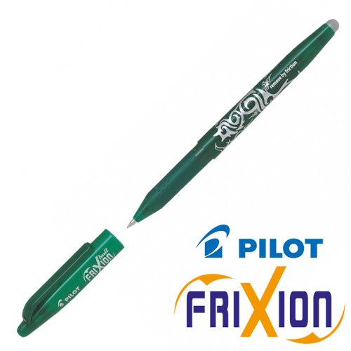 Stylo Frixion ball (avec capuchon) - pointe large 0.7mm (vert)