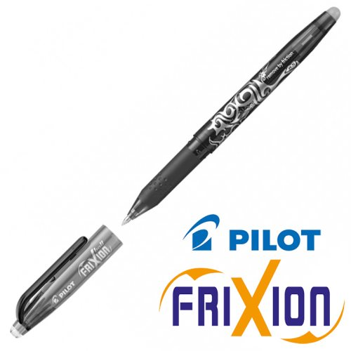 Fine Erasable Gel Rollerball - Pilot Frixion Ball 'Fine' 0.5mm - (Black / Noir)