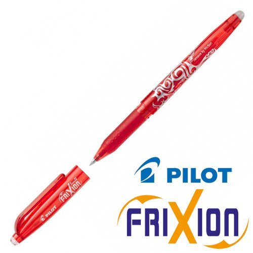 Fine Erasable Gel Rollerball - Pilot Frixion Ball 'Fine' 0.5mm - (Red / Rouge)